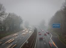 Claudia Weller - A40 im Nebel