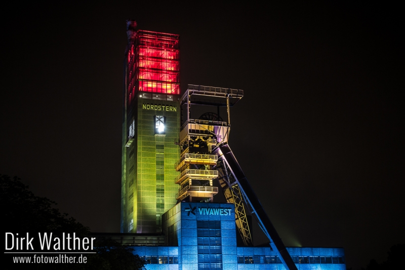Extraschicht 2014 - Beleuchtete Zeche Nordstern