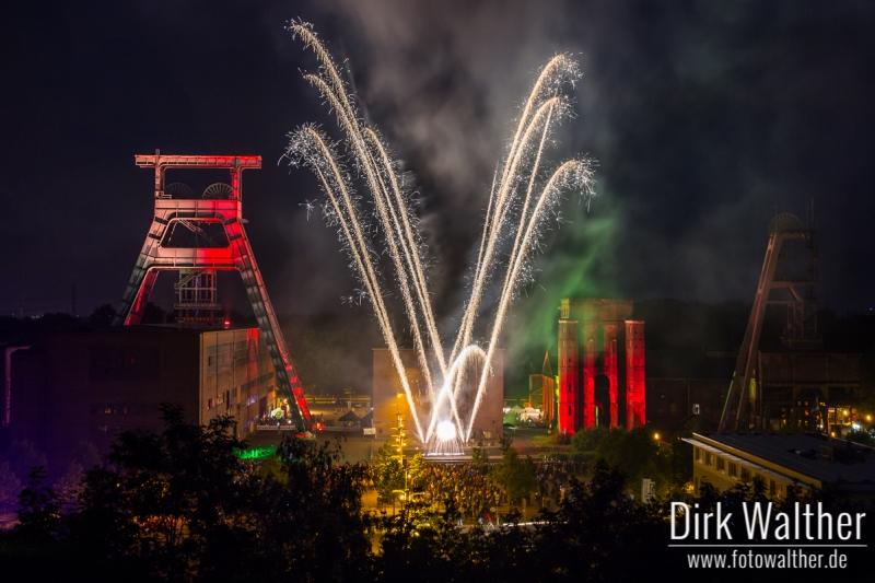 Extraschicht 2014 - Feuerwerk auf Zeche Ewald