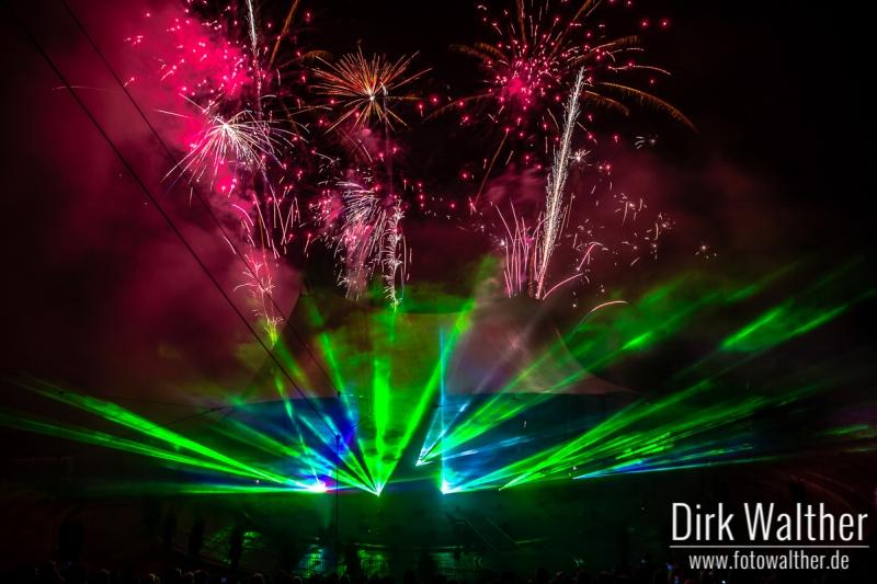 Extraschicht 2014 - Lasershow im Nordsternpark